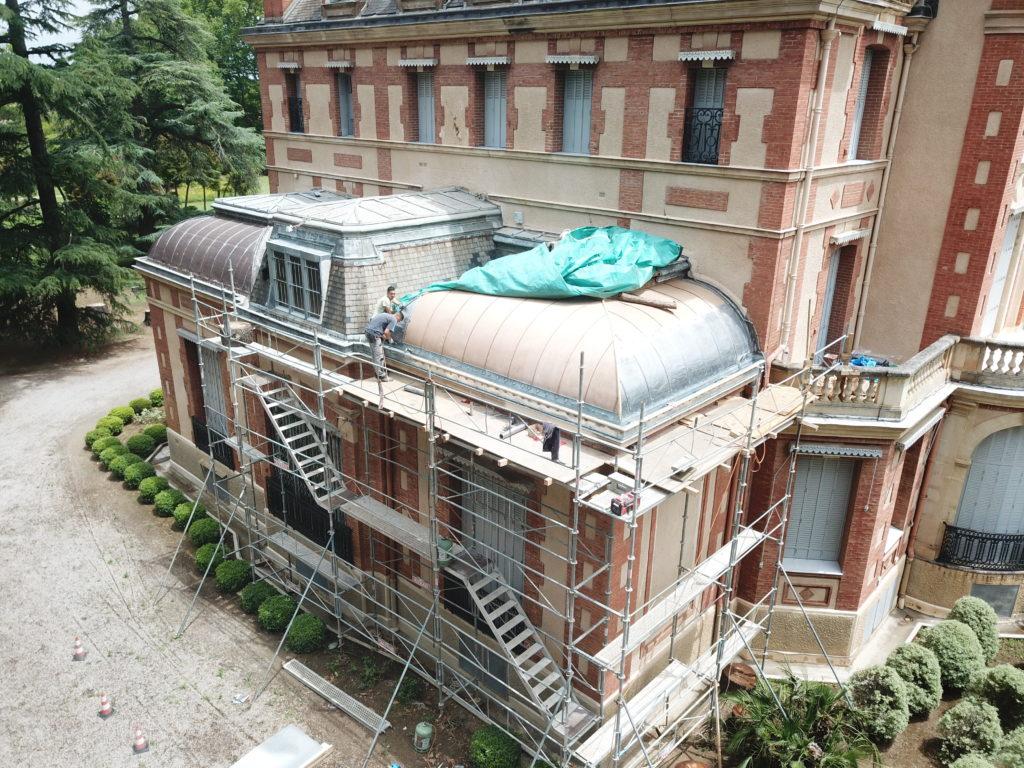 Terrasse zinc et toiture plomb
